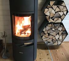 Großes Kaminholzregal Brennholzregal Hexagon XL bis zu 30cm Scheite 0,16m3 2-tl.