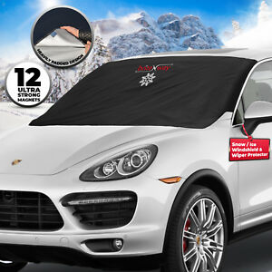 SUV Keeps Vehicle Cool//Easy to Use//Fits Windshields for Most Car Trucks Liliylove Pretty Swery Fuck Off Car Windshield Sun shade Snow ice Cover Windscreen Protector Cover