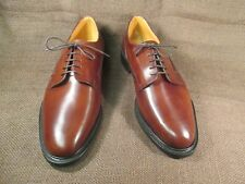 Gleneagles Polo Brown Leather Handmade Plain Toe Sz Uk 12 G New made in England