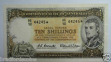 1961 Ten Shillings Coombs / Wilson Star Replacement Banknote In EF Condition