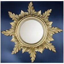 Mid-Century Gold Gilded Italian Sunburst Wall Mirror