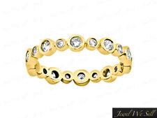 0.40Ct Round Diamond Wedding Eternity Band Ring 10k Yellow Gold GH I1 Bezel Set