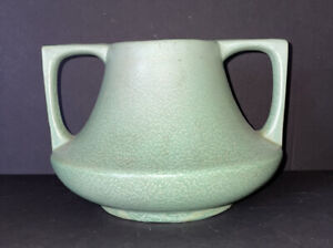 Vintage Haeger Matte Green MCM 1940s Vase
