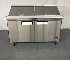 "NEW 60"" SANDWICH PREP UNIT PREP TABLE Cooler 60 5' MEGA TOP 24 Pan Refrigerator"