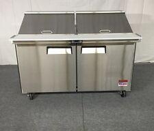 "60"" SANDWICH PREP New UNIT PREP TABLE Cooler 60 5' MEGA TOP 24 Pan Refrigerator"