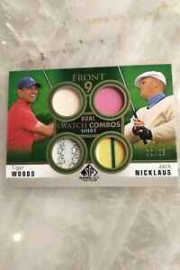 2021 SP Game Used Golf - Tiger Woods & Jack Nicklaus Dual Swatch Combos 11/25