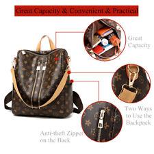 Damen Schultertasche Rucksack Handtasche Vintage Umhängentasche Anti Diebstahl