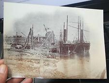 Low Walker Shipyard Newcastle Upon Tyne interesting rare large albumen photo s6