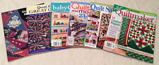 LOT OF 6 QUILT BOOKS, MAGAZINES Great Lakes Quilts, Crazy Quilt Handbook, Baby