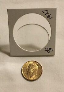 1927 BRITISH GOLD SOVEREIGN GOLD COIN 8 grams