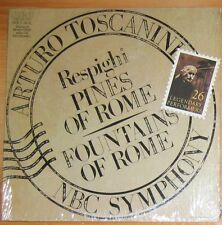 """SEALED=TOSCANINI; RESPIGHI """"PINES OF ROME"""", """"FOUNTAINS OF ROME""""; RCA GOLD SEAL"""