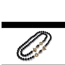 HEIDI DAUS LET ME COUNT THE WAYS Set of 2 Crystal Accented Toggle Necklaces BLK