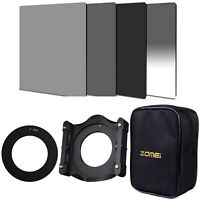 Zomei 4*6 Neutral Density Filter ND248+GND16+Holder & Adapter Ring  For Cokin Z