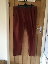 """Vans Wash Red Cotton Chino Trousers W36"""" L34"""" *C1"""