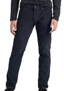 Levi's-502 Mens Pants Nightwatch Blue 33x32 Tapered Leg Stretch Corduroy $69 133