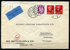 Norwegen  Firmenbrief Wehrmacht Zensur