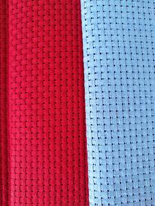 BINCA / AIDA 6 COUNT CROSS STITCH BLUE RED VARIOUS SIZES COTTON **10% OFF 2+**