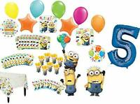 Despicable Me Minions 5th Birthday Party Supplies 8 Guest Table Decorations a...