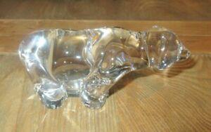 VILLEROY & BOCH CLEAR GLASS POLAR BEAR COLLECTABLE VINTAGE PIECE-SIGNED-VGC