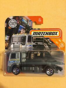 Matchbox MBX Flatbed Recovery Truck in Silver Brand New Release 2020 Card 25/100