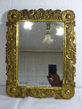 Antiker Wandspiegel, Spiegel, Holz mit Messingverkleidung