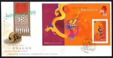 Hong Kong 2000 Zodiac Series Lunar New Year of the Dragon, imperf Mini-Sheet FDC