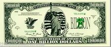 100 FAKE BILLION DOLLAR BILLS NOTES FUNNY PRANK MENS BOYS TOY NOVELTY GIFT