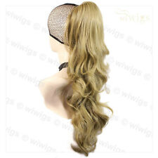 Wiwigs Golden Blonde Long Jaw Clip In Ponytail Hairpiece Extension
