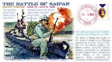 COVERSCAPE computer designed 70th anniversary WW2 Battle of Saipan event cover