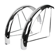 Wald Products Flared Chrome Fenders Wald #972-26 Ballon Flared Cp