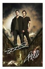 SUPERNATURAL - JENSEN ACKLES & JARED PADALECKI SIGNED A4 PP POSTER PHOTO