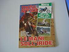 MOTOSPRINT 31/1984 BENELLI 125 CS CUSTOM/APRILIA ETX/HONDA XL 200 PARIS DAKAR