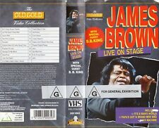 JAMES BROWN LIVE ON STAGE-with BB King VHS-NEW-PAL-Original Oz sell-thru release