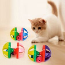 Pet Cat Toy Hit Color Ball Interactive Double Bells Ball Vocal Funny Cat Toys