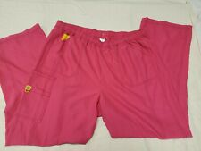 WonderWink Scrubs 5105 Women's Boot Cut Cargo Pants Plus Size 1X - Color Berry