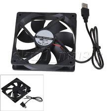 120x120x25mm DC 5v USB Computer Case Silent Cooling Fan 12025 Black