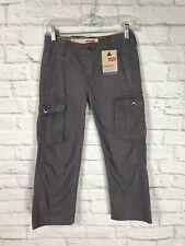 NEW Levis Youth Boys Gray Cargo Pants Size 8 Regular Straight Leg