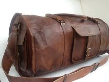 Mens Genuine Goat Leather Large Travel Luggage Bag Duffle Gym Tote Bags Sale