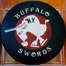 BUFFALO SWORDS NY VINTAGE NEW YORK TEAM OFFICIAL MADE IN CZECHOSLOVAKIA + HOLE!