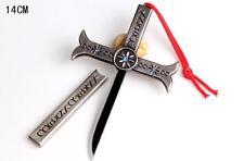 ONE Piece Dracule Mihawk Hawkeye 14cm Cross Sword Weapon Cosplay Gift