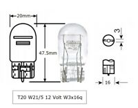 10 x W21/5W 12V 21/5W Sockel T20 W3x16q Glassockelbirne LONG LIFE Setpreis