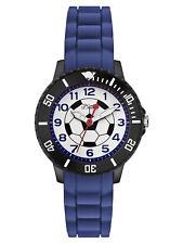 s.Oliver Montre pour enfants football avec bracelet de Silicone So 2589 PQ Bleu