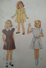 """Vintage 1950s McCall's Girl's Dress Printed Sewing Pattern #7233  21""""/53cm"""
