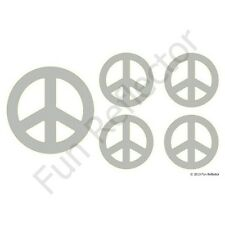 Silver Peace Sign Bicycle Reflective Stickers Decals