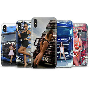 SEXY GIRLS AND TRUCKS SCANIA PHONE CASES & COVERS FOR IPHONE 5 6 7 8 X 11 SE 12