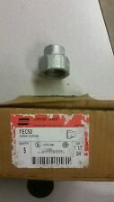 """CROUSE-HINDS REC52 11/2"""" to 3/4"""" REDUCING COUPLING LOT OF 5"""