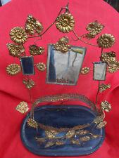 intérieur de globe de mariée XIX éme laiton socle bridal globe inside antique