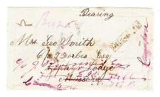 India STAMPLESS-BEARING LETTER-opened 3 sides-with letter from a daughter to