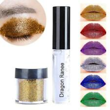 Diamond  Eyeshadow Eye Cosmetic Matte Lip Gloss Glitter Powder With Glue Makeup