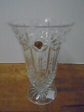 Waterford Crystal Balmoral Vase New with Box 10 Wedding Glass Lead Slovenia